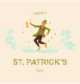saint patricks day square greeting banner vector image vector image