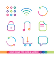 set from 9 color icons for web and mobile vector image
