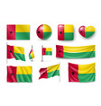 set guinea-bissau flags banners banners symbols vector image vector image