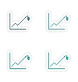 Set of stylish sticker on paper Economic graph vector image vector image