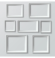 Set of white photo frames vector image vector image