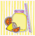summer lemonade juice vector image vector image