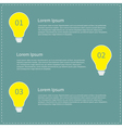Three step business infographic with yellow light vector image vector image