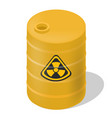 yellow barrel isometric with sign toxic vector image
