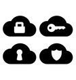 Cloud security icons set vector image