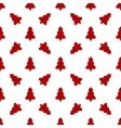 Pattern for wrapping paper Red Christmas tree on vector image