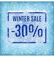 winter sale banner vector image