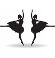 Set of Ballet dancers silhouette vector image