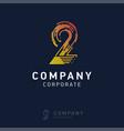 2 company logo design vector image vector image