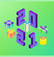 2021 new year presents vector image vector image