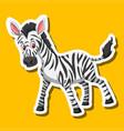 a zebra sticker character vector image vector image