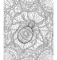 adult coloring bookpage a cute spider vector image