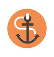 anchor icon ship equipment concept vector image vector image