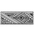 arm tattoo ethnic polynesian stile vector image vector image