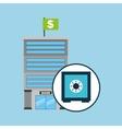 bank concept service safe box money vector image