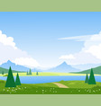 beautiful summer mountain landscape with a lake vector image
