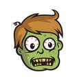 boy zombie head vector image vector image