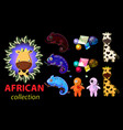 bright cartoon african theme elements vector image vector image