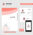 bug business logo file cover visiting card and vector image vector image