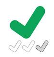 check mark icon vector image vector image
