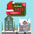 christmas sale off poster vector image vector image