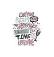 cofee and wine lettering vector image vector image