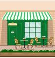 coffee shop facade in retro style vector image vector image