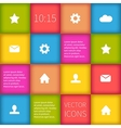 colorful squared infographic ui design vector image vector image