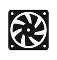 computer cooler black icon vector image