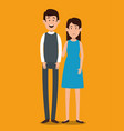 couple avatar characters icons vector image