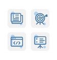 creative blue marketing icons design isolated vector image vector image