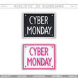 cyber monday 3d signboard vector image vector image