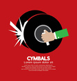Cymbals Music Instrument vector image vector image