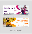 fashion sale facebook cover banner ad design vector image vector image
