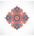 floral oriental pattern wonderland flower ornament vector image vector image