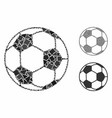 football ball composition icon trembly parts vector image vector image