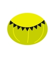 Green round beanbag chair isolated icon vector image vector image