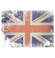 Grunge british flag vector image vector image