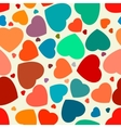 Hearts seamless Background EPS 8 vector image vector image