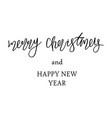 holiday lettering and xmas design merry christmas vector image