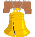 liberty bell eps 10 vector image vector image