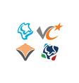 logotype modern template set vector image vector image