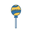 lollipop delicious candy vector image