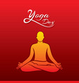 lotus pose doing men yoga day vector image vector image