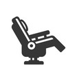 massage chair icon on white background vector image vector image