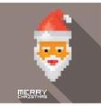 Merry Christmas pixel art santa claus vector image