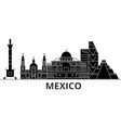 mexico architecture city skyline travel vector image vector image