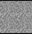monochrome knitted seamless background pattern vector image vector image