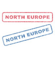 north europe textile stamps vector image vector image