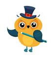 owl funny alphabet animal vector image vector image